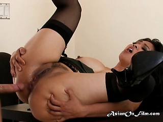 Boss has anal with Mika after she begs