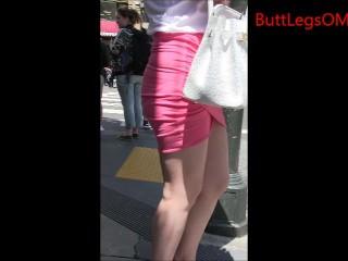 Candid Asian Miniskirt Urgency Creepshot Curvy