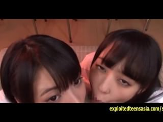 Team a few Jav Schoolgirls Do Deep Throat BJ And Cum Swallowing Plus Bukkake