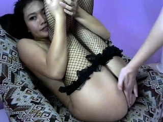 Chinese cumshot down lovely asian ass