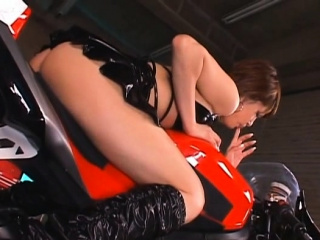 Fresh japanese Miori Hoshi enjoys a bonny rear light of one's life