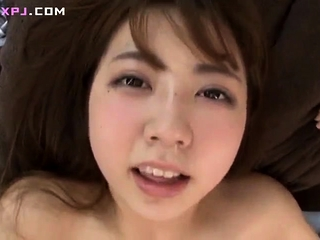 Japanese hairy pussy toying