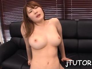 Hot oriental gal Momoka Nishina involving firm tits does porn
