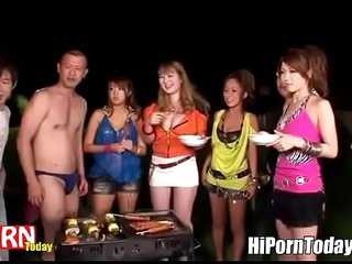 Japanese Orgy outdoor croak review having a Cookout