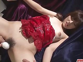 Hot japan girl in sex with lasting toy lengthways brash model Kanako Iioka