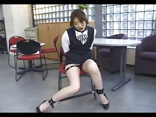 Shackled Japanese Office Girl