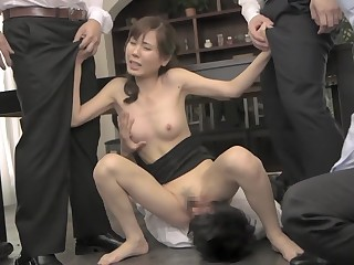 Hottest Japanese chick in Exotic HD, Group Sex JAV video