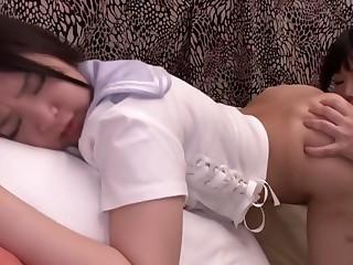 Fabulous Japanese girl in Amazing Lesbian JAV clip