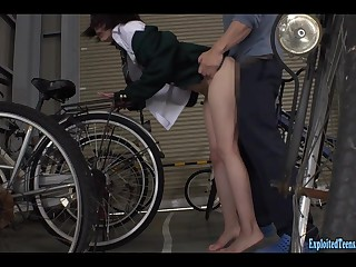 Jav Idol Nizumi Maika Gets Attacked In Bicycle Shed Really Cute Teen Fucked Hard In Her Uniform