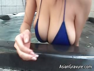 Hot brunette asian plow relating to chubby juggs part1