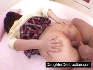 Asian teen daughter fucked hard